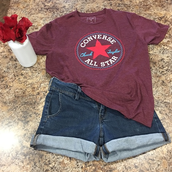 Converse Other - Converse All Star T-shirt in burgundy 9b06e89de0